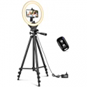 Deals List: Sensyne 10-in Ring Light with 50-in Extendable Tripod Stand