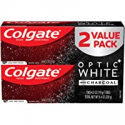 Deals List: Colgate Optic White Charcoal Toothpaste for Whitening Teeth with Fluoride, Cool Mint - 4.2 Ounce (2 Pack)