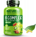Deals List: NATURELO B Complex - Whole Food Complex with Vitamin B6, Folate, B12, Biotin - Supplement for Energy and Stress - High Potency - Vegan - Vegetarian - Non GMO - Gluten Free - 120 Capsules