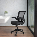 Deals List: Flash Furniture Mid-Back Black Mesh Swivel Ergonomic Task Office Chair with Flip-Up Arms