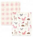 Deals List: Hudson Baby Unisex Baby Cozy Plush Luxury Blankets 2pk, Woodland Silhouette