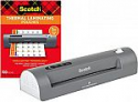 """Deals List: Scotch Thermal Laminator and Pouch Bundle, 2 Roller System, Laminate up to 9"""" Wide (TL901X) with Scotch Laminating Pouches, 100-Pack (TP3854-100)"""