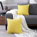 Deals List: Deconovo Yellow Throw Pillow Cover 24x24 Inch