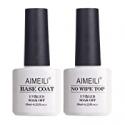 Deals List: 2x10ml Aimeili Gel Polish Base Coat and No Wipe Top Coat Set