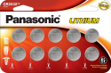 Deals List: Panasonic CR2032 3.0 Volt Long Lasting Lithium Coin Cell Batteries in Child Resistant, Standards Based Packaging, 10 Pack