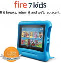 "Deals List: Fire 7 Kids Tablet, 7"" Display, 16 GB, Blue Kid-Proof Case"