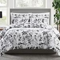 Deals List: 3-Pc Pem America Black & White Floral-Print Comforter Set (Full/Queen)
