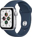Deals List: Apple Watch SE (GPS, 40mm) - Silver Aluminum Case with Abyss Blue Sport Band