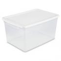 Deals List: Room Essentials 66qt Storage Bin Clear w/White Lid