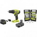 Deals List: RYOBI 18V Cordless ONE+ 1/2 in. Drill/Driver Kit w/(1) 1.5 Ah Battery and Charger and Impact Rated Driving Kit (40-Piece)