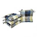 Deals List: 4-Count Arlee Harris Plaid Chair Pad Seat Cushion 16x16-in