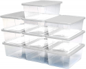Deals List: Homz Plastic Storage Bins, Snap Lock White Lids, 6 Quart, Clear, Stackable, 10-Pack