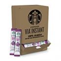 Deals List: Starbucks VIA Instant Coffee Dark Roast Packets 50 Count