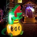 Deals List: HOOJO 6ft Halloween Inflatables Pumpkins Dinosaur w/Build-in LED