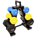 Deals List: BalanceFrom Colored Neoprene Coated Dumbbell Set with Stand