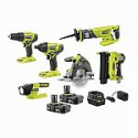 Deals List: RYOBI ONE+ 18V Cordless 6-Tool Combo Kit with (2) 2.0 Ah Batteries and Charger