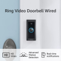 Deals List: Ring Video Doorbell Wired – Convenient, essential features in a compact design, pair with Ring Chime to hear audio alerts in your home (existing doorbell wiring required) - 2021 release