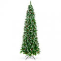 Deals List: BCP Partially Flocked Spruce Pencil Christmas Tree w/Berries 6-FT