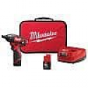 Deals List: Milwaukee M12 Cordless 1/4 in. Hex Screwdriver Kit w/ Two 1.5Ah Batteries, Charger and Tool Bag