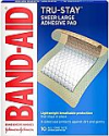 Deals List: Band-Aid Brand Tru-Stay Adhesive Pads, Large Sterile Bandages for Wound Care, Large Size, 10 ct