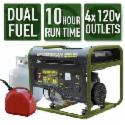 Deals List: Sportsman 4,000/3,500-W Dual Fuel Powered Portable Generator